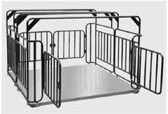 Весы платформенные с ограждением для взвешивания скота