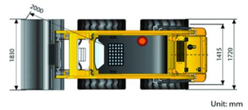 Миниковшевой погрузчик с бортовым поворотом LiuGong 375А